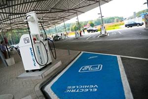 Une borne de charge rapide de Total en Belgique