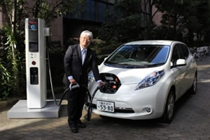 La nouvelle borne de charge rapide Nissan
