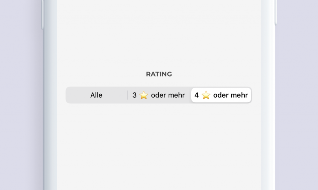 Chargemap Plus filter nach Rating