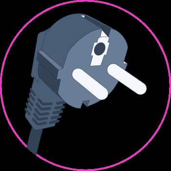 Illustration of a domestic socket