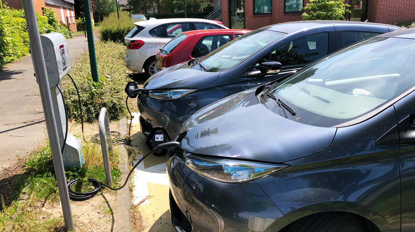 Aufladen von Renault Zoé-Elektrofahrzeugen