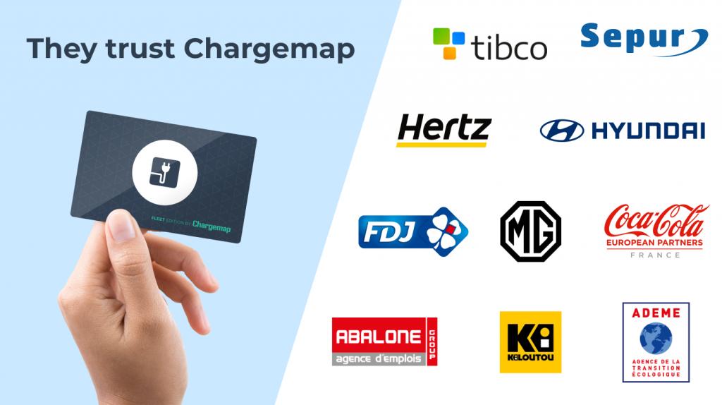 Some Chargemap Fleet clients' logos
