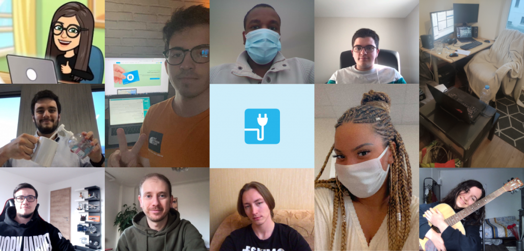 Photos of the 11 new members of the Chargemap team