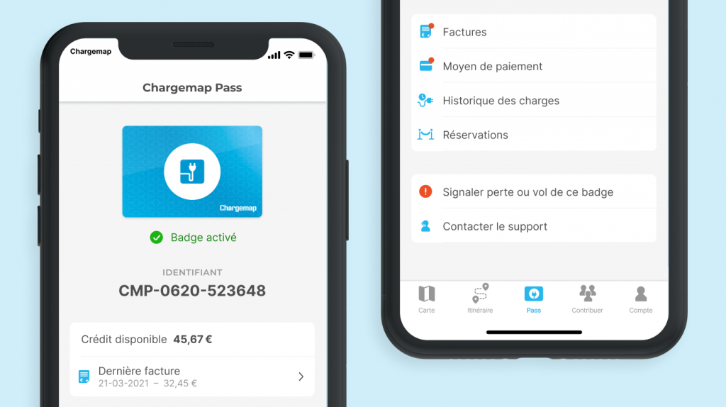 Nouvel onglet Chargemap Pass