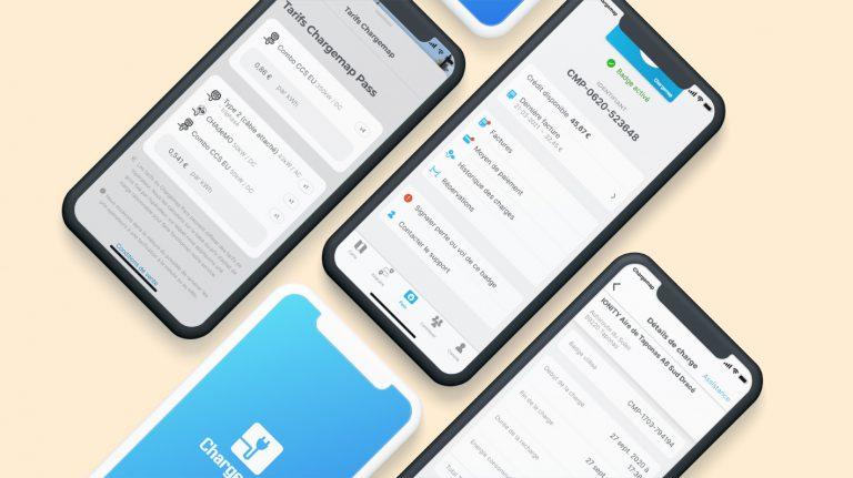 Captures d'écran des nouveautés de l'application Chargemap