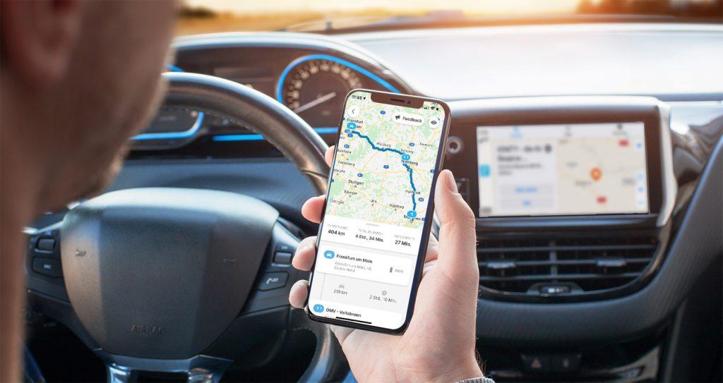 Chargemap-Routenplaner in der mobilen App und Apple Carplay